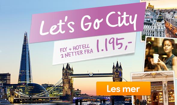 Vings  Storbyreiser – Fly + hotell  2 netter fra 1.995,-