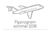 Flyprogram sommer 2016