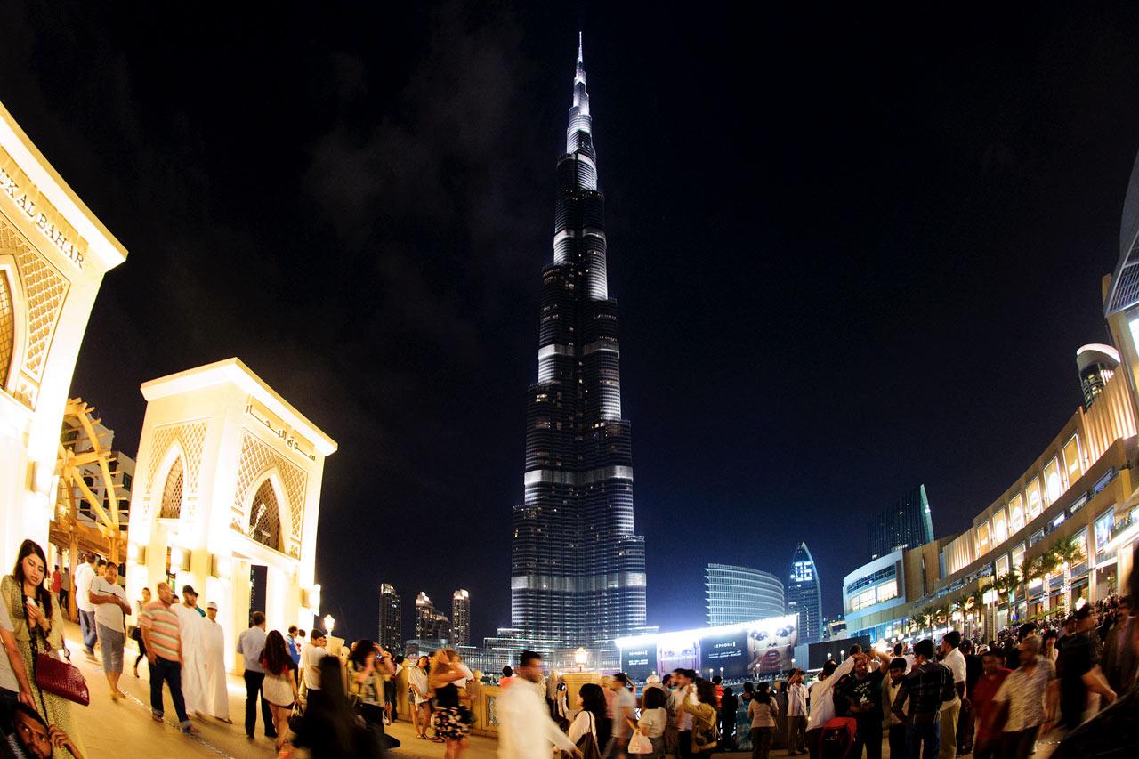 De forente arabiske emirater - Burj Khalifa er verdens høyeste skyskraper