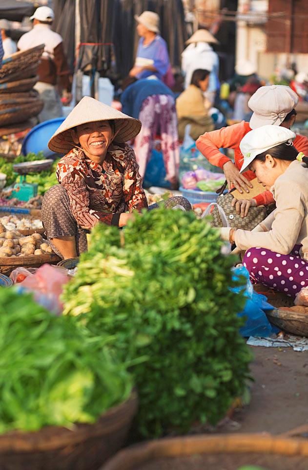 Vietnam - Marked i Nha Trang, Vietnam.