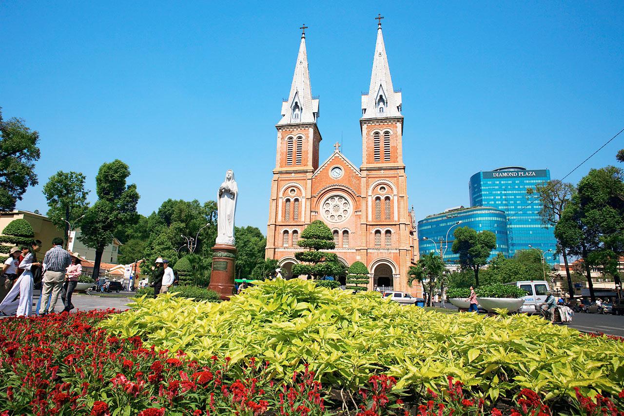 Vietnam - Notre Dame Cathedral, Saigon (Ho Chi Min City), Vietnam.