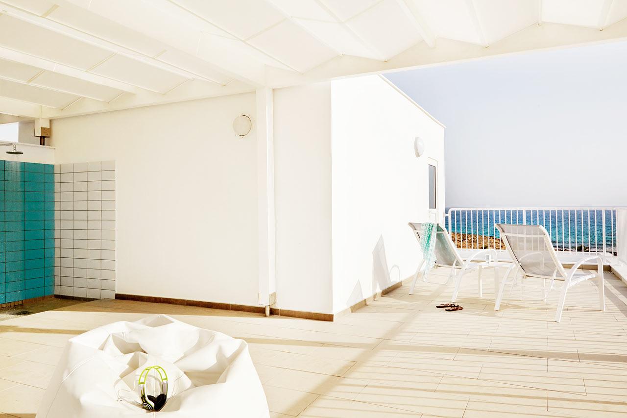 Sunwing Sandy Bay Beach - Takterrassen i 3-roms leilighet Royal Family Suite, med stor balkong.
