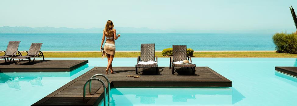 Dobbeltrom suite med felles eller privat basseng