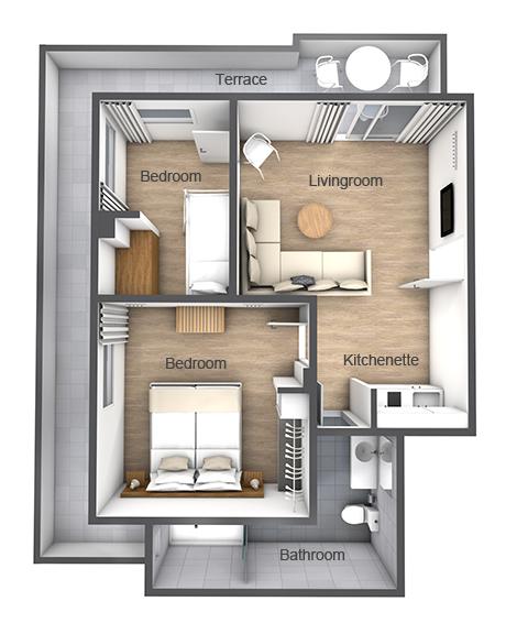 Enkelt leilighet 58095 hagen