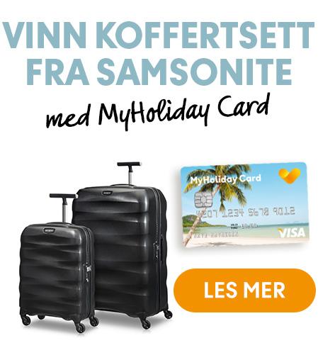 Vinn koffertsett fra Samsonite med Ving og MyHoliday Card