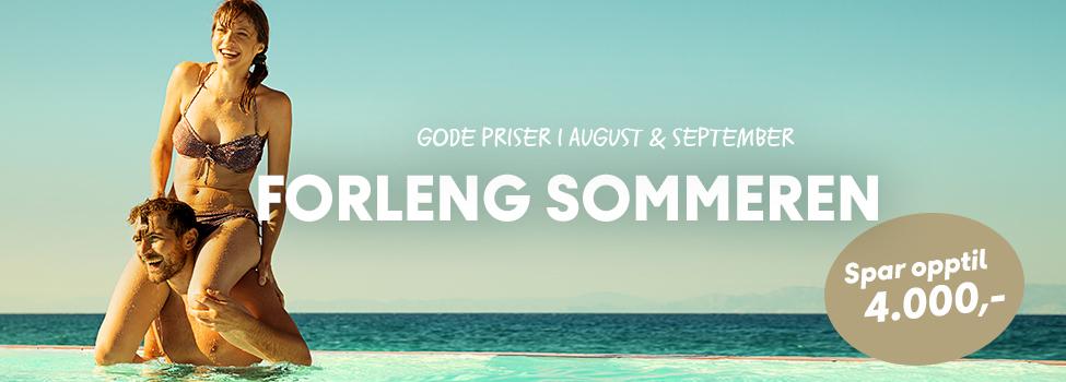 Forleng sommeren august