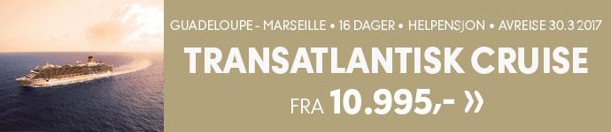 Transatlantisk cruise, Guadeloupe-Marseill